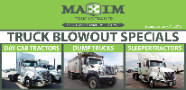 Truck Blowout Specials From Maxim Truck & Trailer!