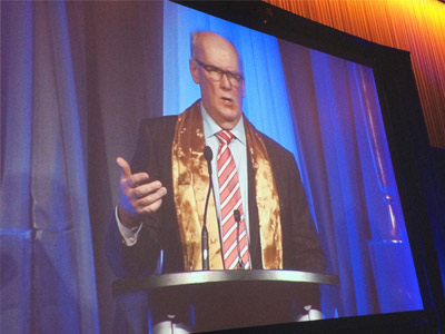 Doug Harvey Delivers Keynote Address at CancerCare's Gold Plated Evening