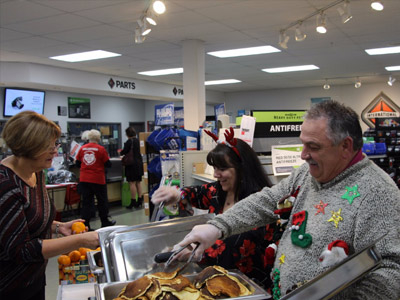 Maxim Pancake Breakfast Raises $27,000 for the Christmas Cheer Board