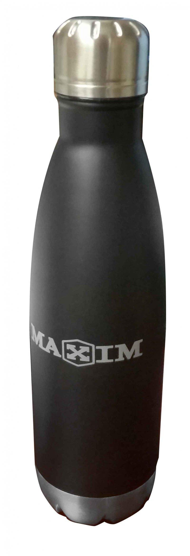 STAINLESS STEEL, INSULATED WATERBOTTLE,BLACK MAXIM - MXWB01